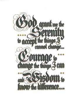 Grapevine Serenity Prayer