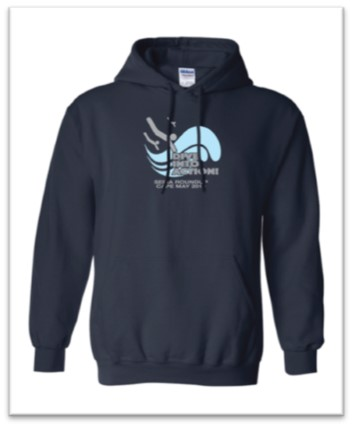 """Dive Into Action"" Logo, Pullover Hoodie, Size: Med"
