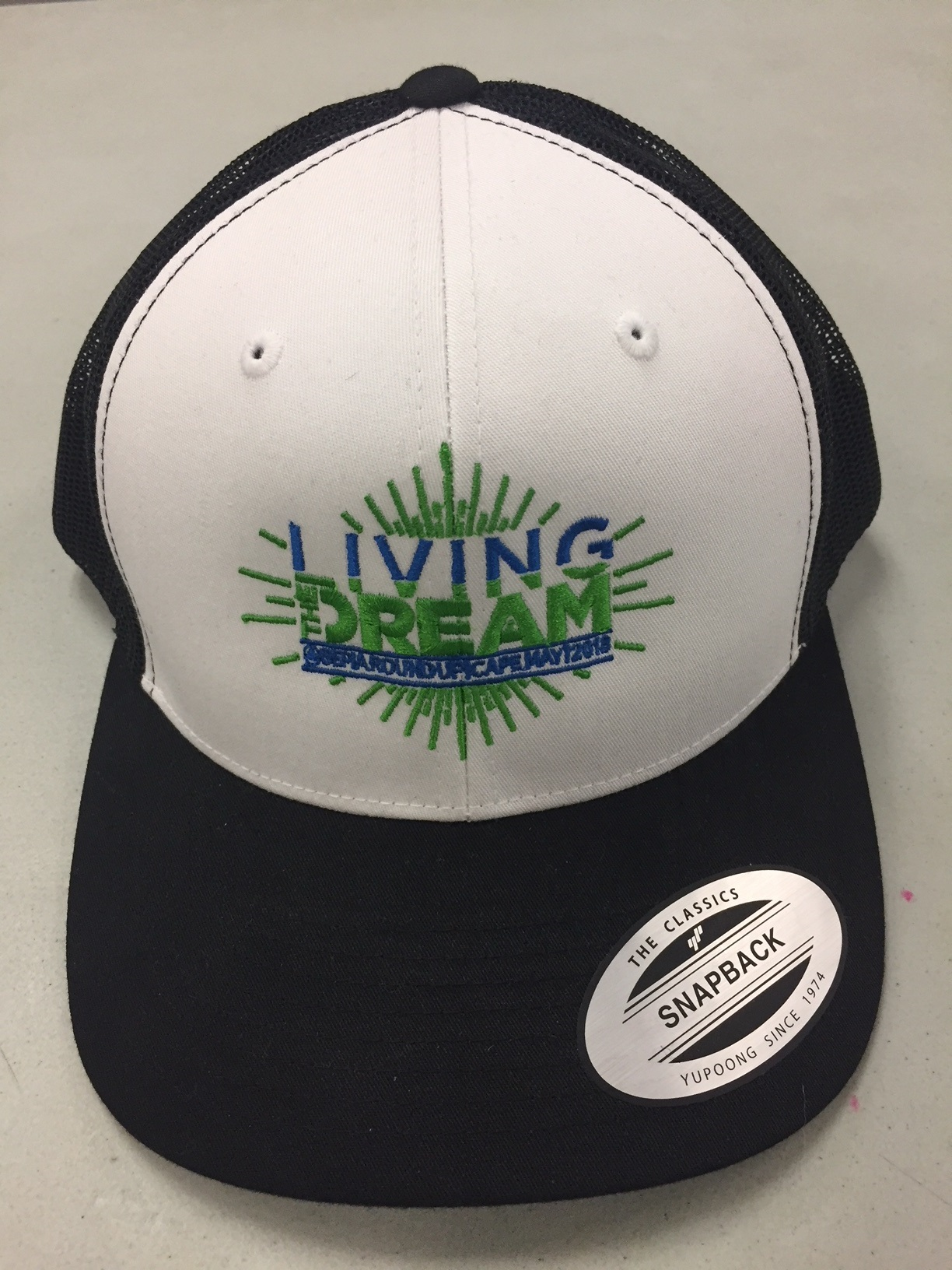 """Living the Dream"" Logo Snapback cap, 1 size fits all"