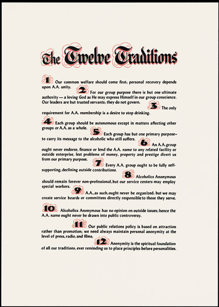 The Twelve Traditions (parchment)