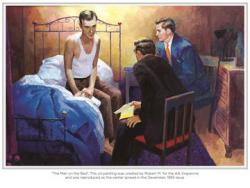 Man On The Bed (Painting)