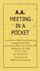 A.A. Meeting In A Pocket